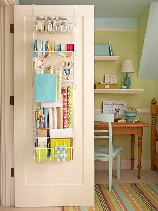 Small Home Organizing Ideas Part - 38: Back Of The Door Organizing Via BHG