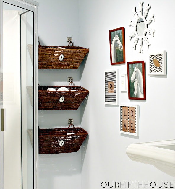 pretty amp functional bathroom storage ideas the