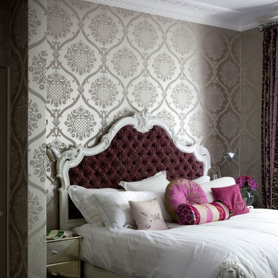 Wallpaper for the Bedroom  via 1. Wallpaper for the Bedroom  Behind the Bed    The Inspired Room