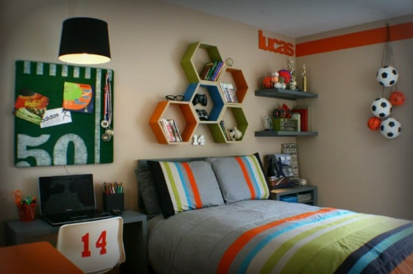 Teen Boy's Bedroom Makeover {Great Ideas}