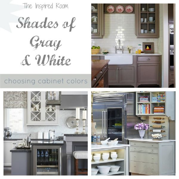 choosing cabinet colors gray and white