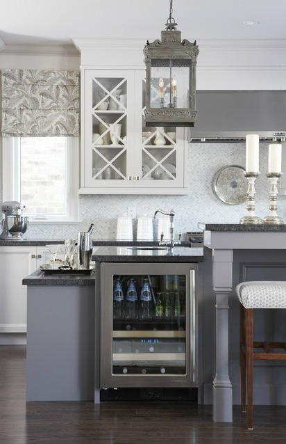 Gray Kitchen White Cabinets shades of neutral} gray & white kitchens - choosing cabinet colors
