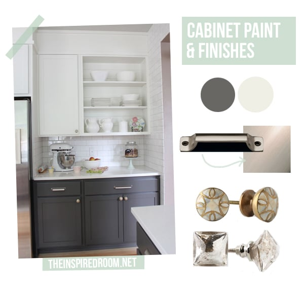 Gray Kitchens with White Cabinets