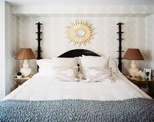 Wallpaper for the Bedroom {Behind the Bed}