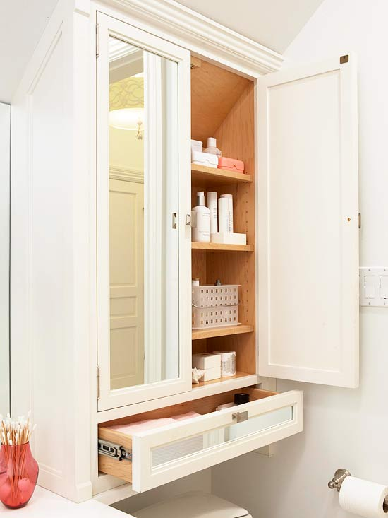 pretty functional bathroom storage ideas the On over the toilet storage ideas