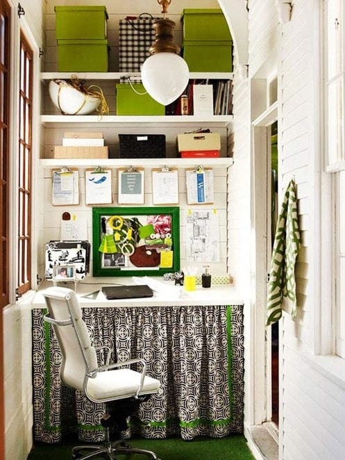 Groovy Small Space Home Office The Inspired Room Largest Home Design Picture Inspirations Pitcheantrous