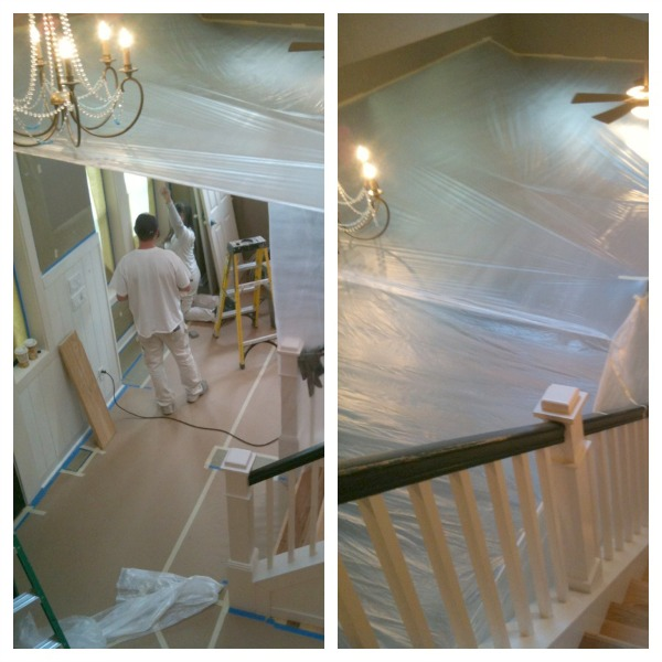 Painting the Interior Trim {Remodeling Project Update}
