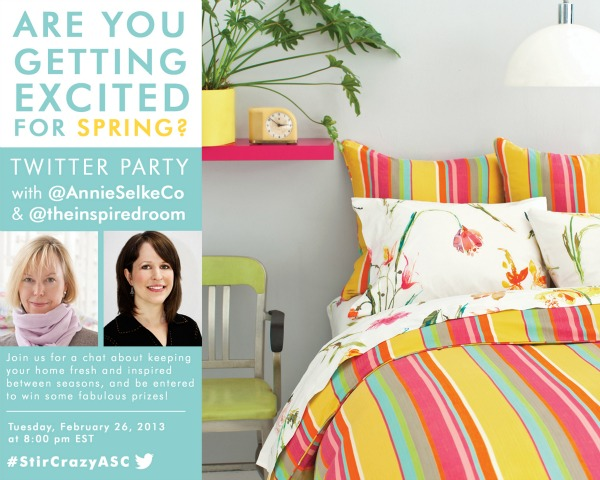 Annie Selke and The Inspired Room Twitter Party