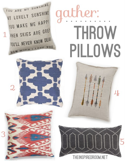 gather modern throw pillows - Toss Pillows