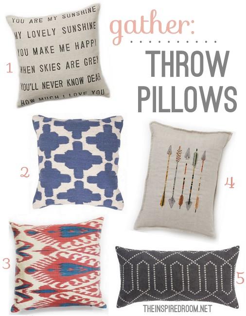 Gather: Modern Throw Pillows