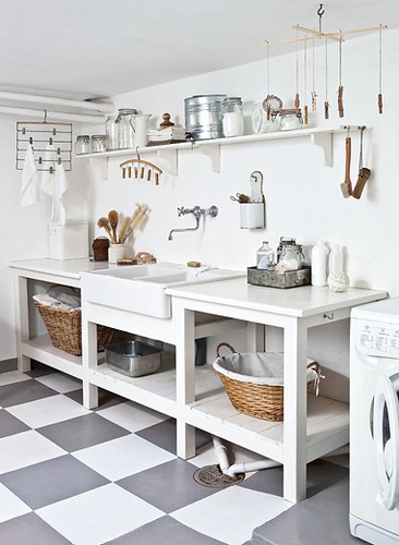 Gray-and-White-Laundry-Checkered-Floor