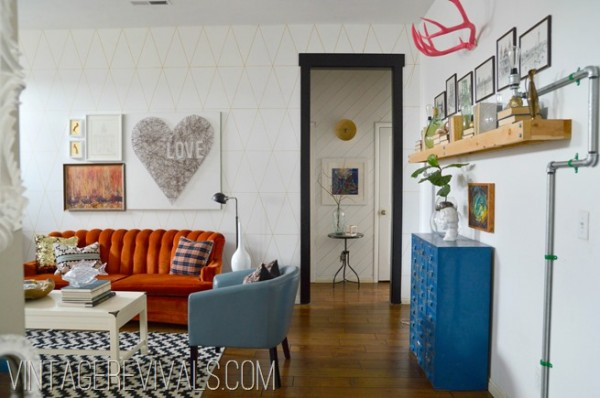 Room decorating before and after makeovers for Vintage chic living room ideas