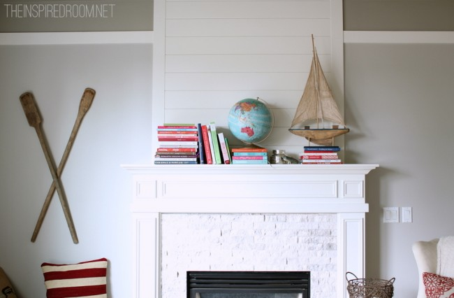 Mantel with books