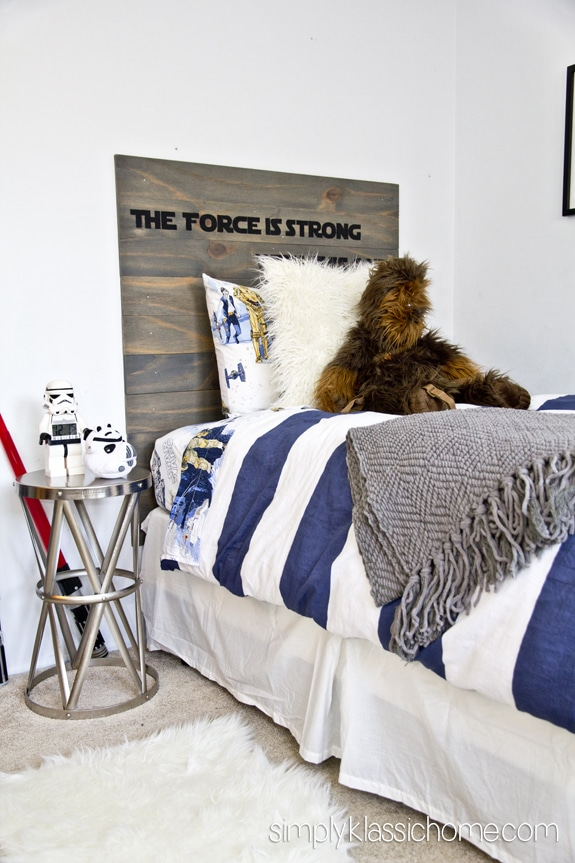 star wars inspired bedroom for a little boy industrial style