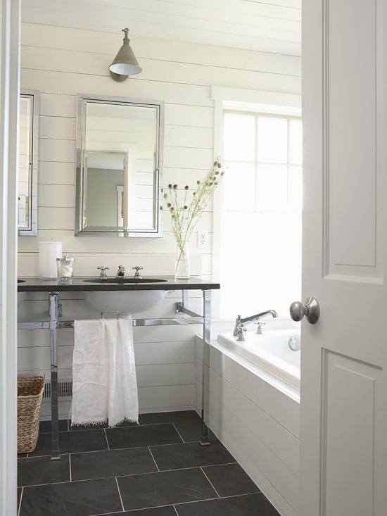 Cool Cottage Style Bathrooms u A Blog Makeover