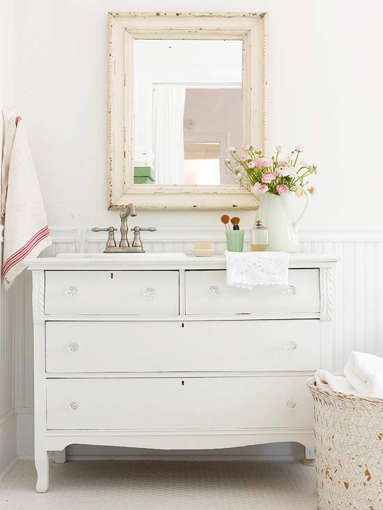Cottage Style Bathrooms U0026 A Blog Makeover