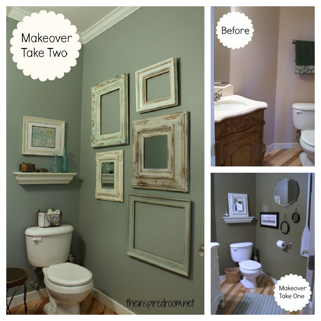 Powder room take two 2nd budget makeover reveal the - Cheap bathroom decorating ideas pictures ...