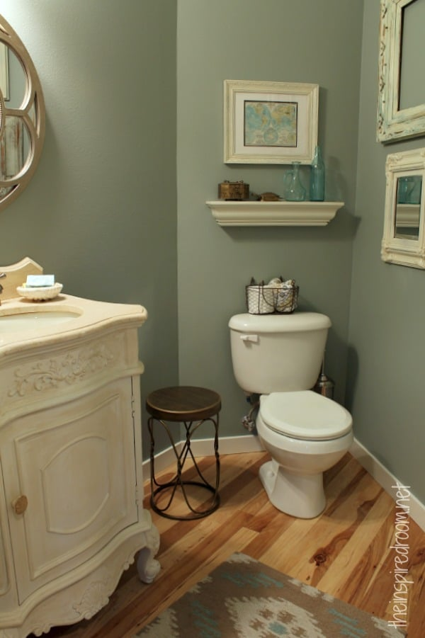 powder room slate green glidden paint