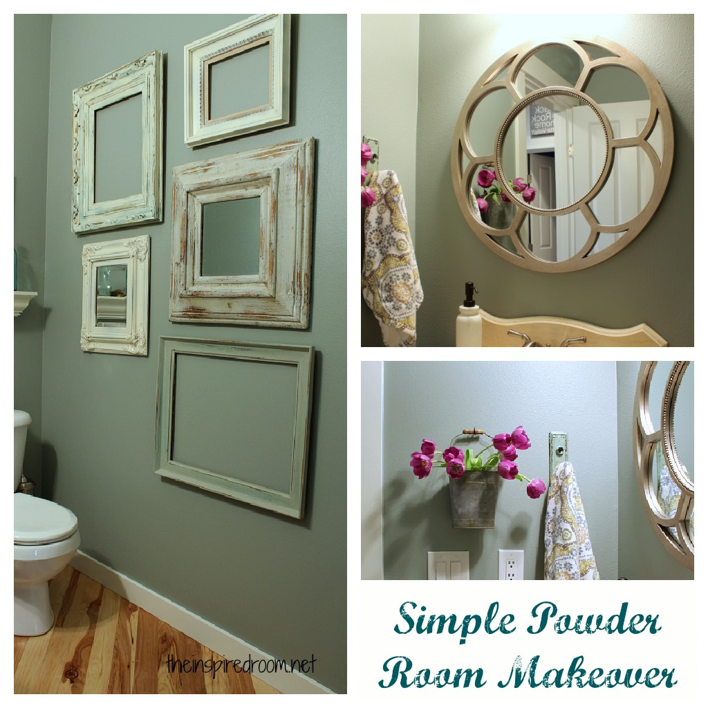 Powder room take two 2nd budget makeover reveal the Tiny room makeover