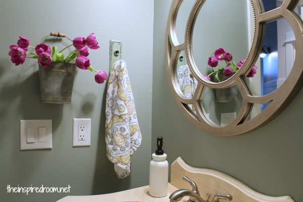 Powder room take two 2nd budget makeover reveal the for Second bathroom ideas