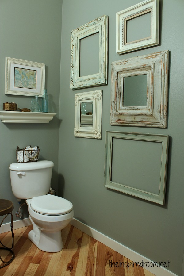 small bathroom makeover blue green walls