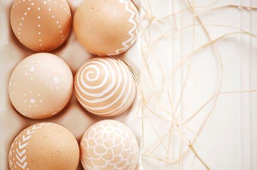 White Paint Pen Easter Eggs--Easy! {Joy Ever After}