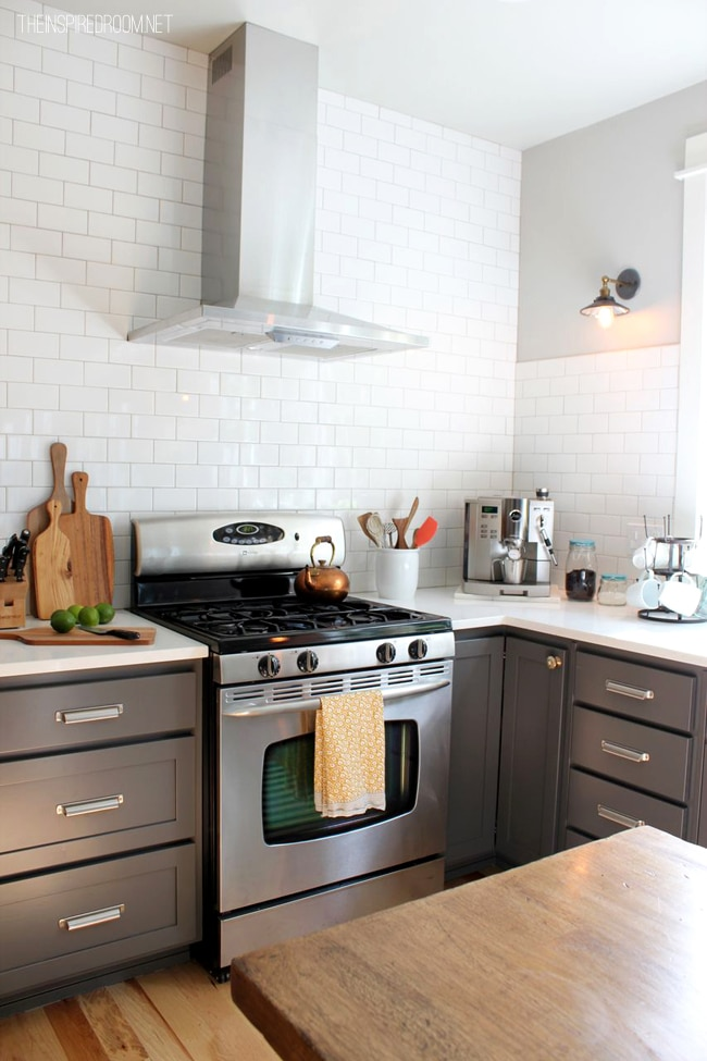 kitchen without tiles kitchen remodel before amp after reveal the inspired room 3501