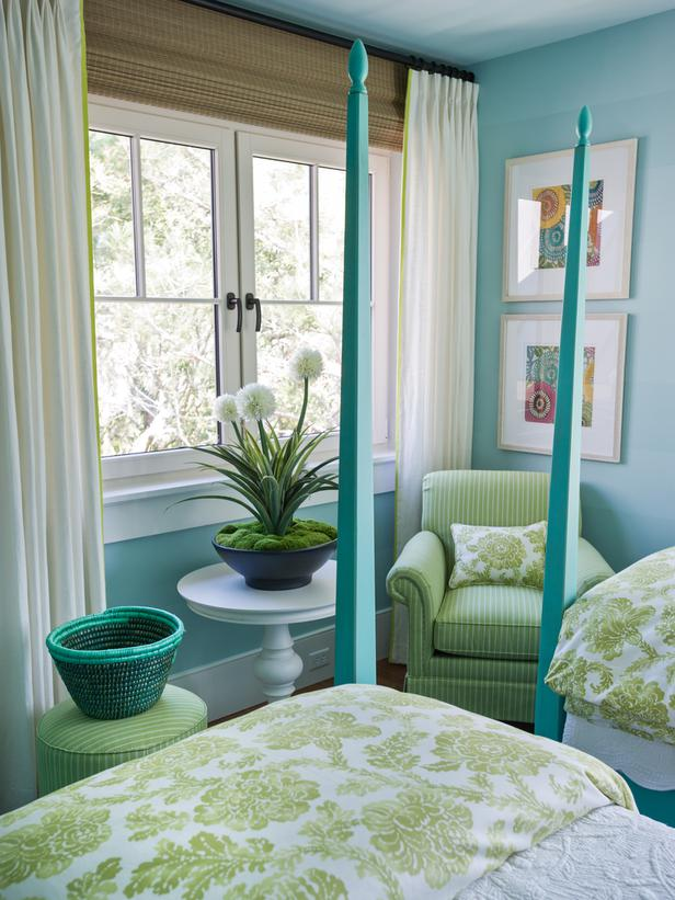 hgtv bedroom blues and greens and textures