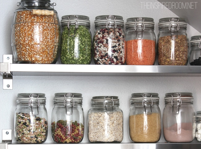 pantry dried bulk jars