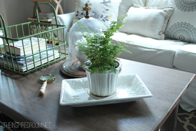 Puttering {Spring Coffee Table}
