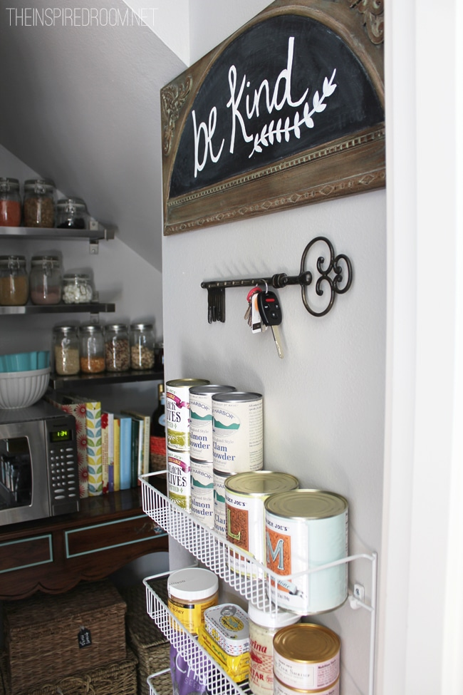wire rack pantry organization