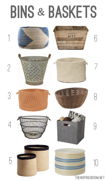 Storage Bins and Baskets Round Up