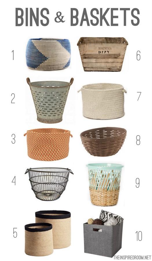 10 Favorite Bins U0026 Baskets {Gather}