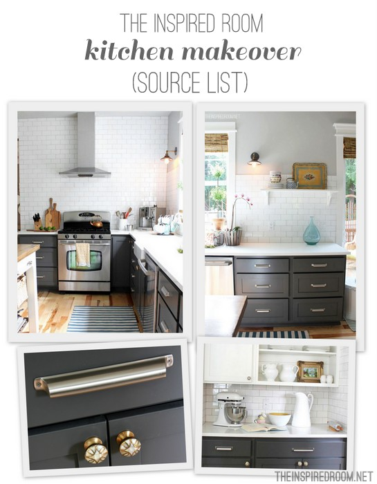 The Inspired Room Kitchen Collage Source List