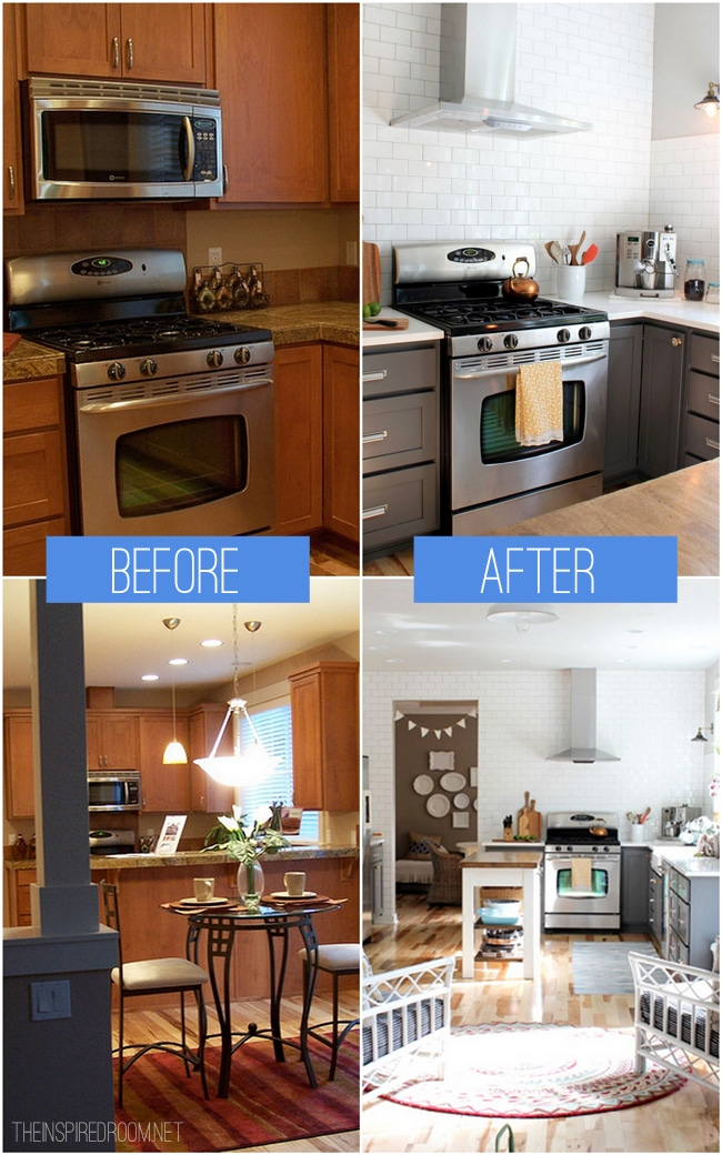 Remodeling A Small Kitchen Before And After kitchen remodel - before & after reveal - the inspired room