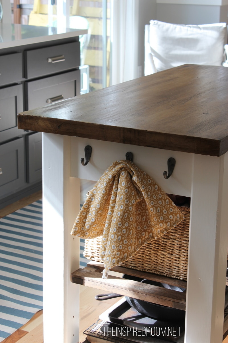 DIY Kitchen Island {from new unfinished furniture to antique!} - The ...