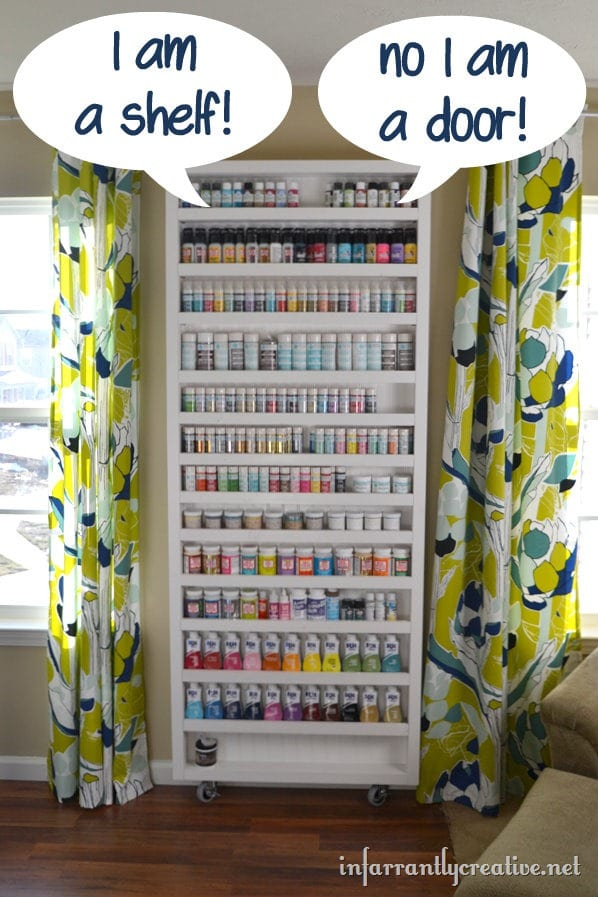 Diy Hidden Storage Door Craft Organization Ideas