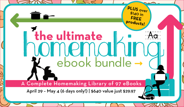 Ebook Sale! The ULTIMATE homemaking ebook bundle!