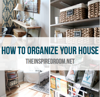 how to organize your house with baskets and containers