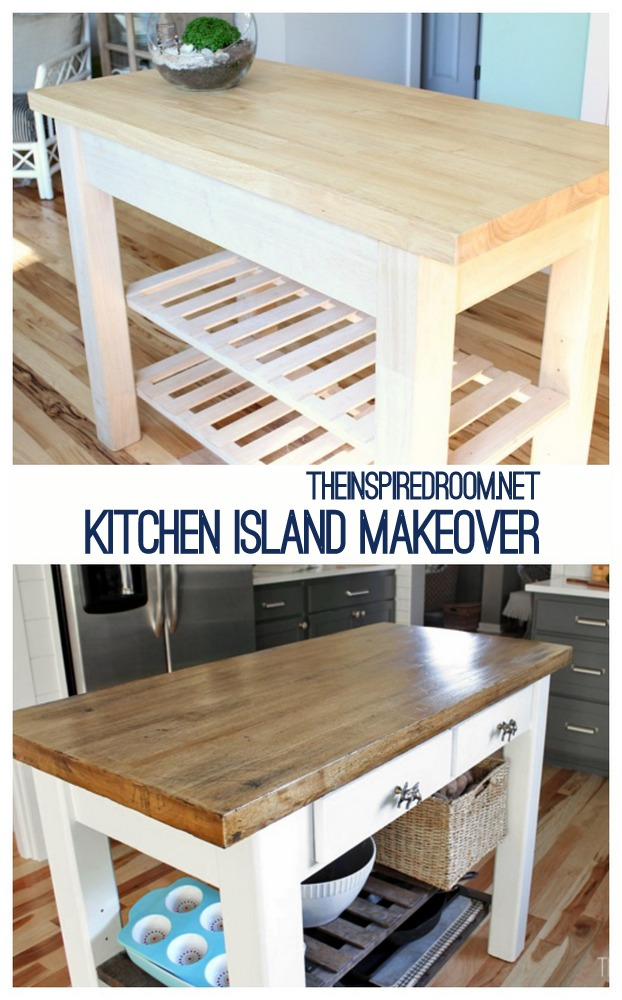 Diy kitchen island from new unfinished furniture to - What is a kitchen island ...