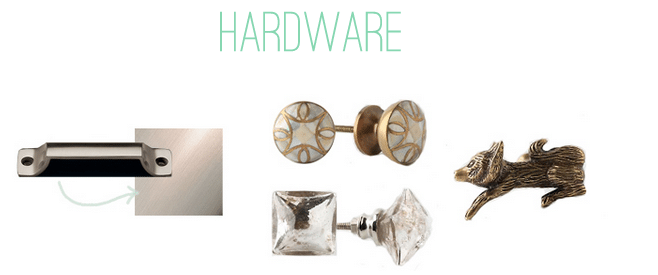 kitchen hardware from anthropologie and restoration hardware