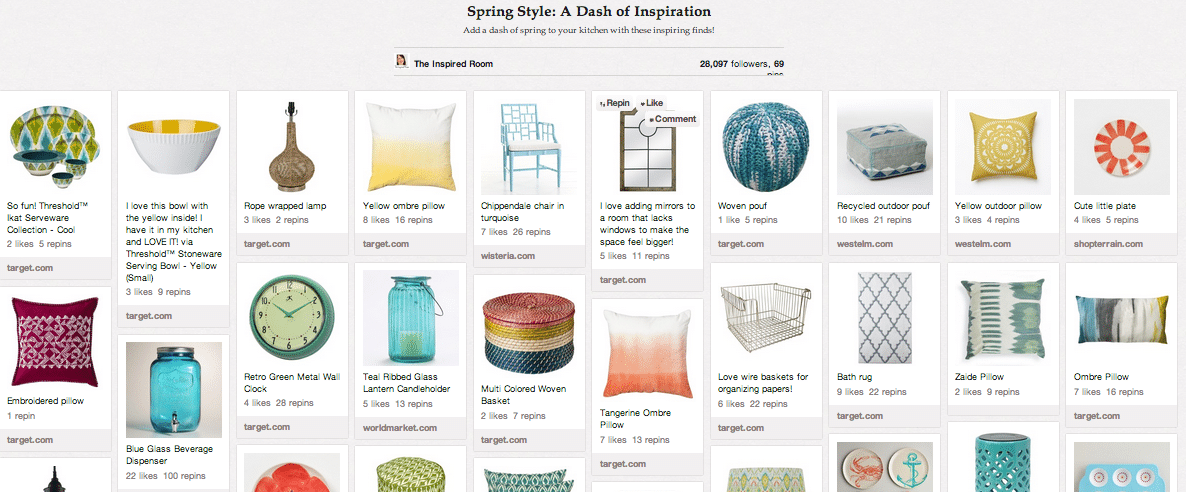 spring decorating pinterest board