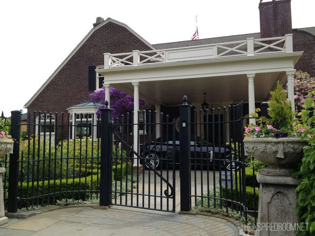 brick house iron gate