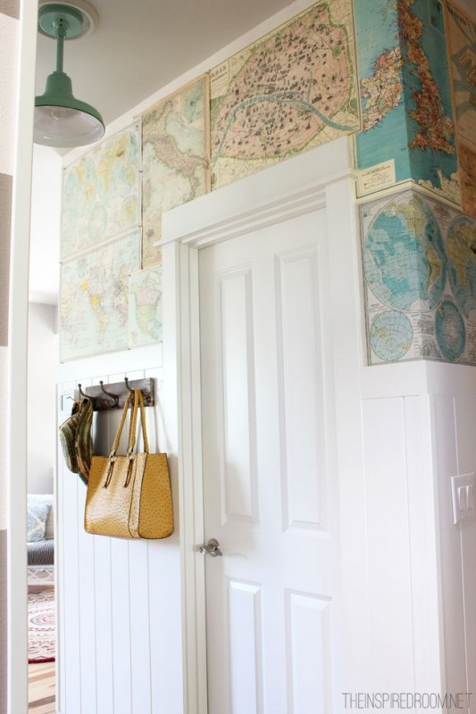 DIY Map Wallpaper