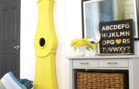 How to DIY a Swedish-clock-tutorial-Yellow