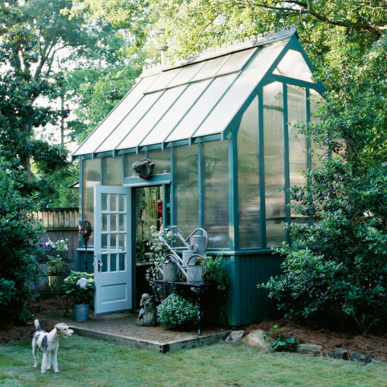 Garden house dreaming of a greenhouse for the backyard for House plans with greenhouse attached