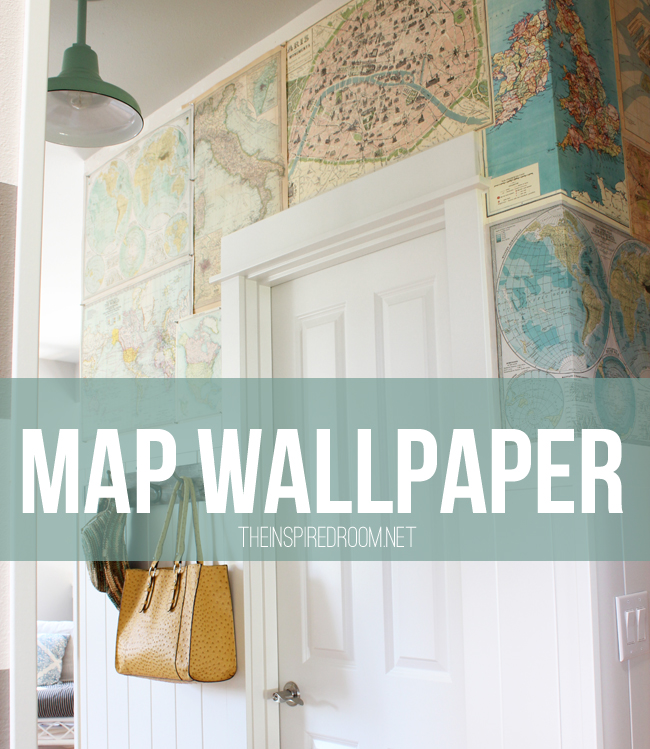 My diy map wallpaper small hallway the inspired room my diy map wallpaper small hallway gumiabroncs