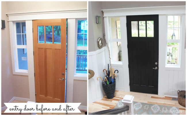 Entry & Front Door Makeover {More Progress}