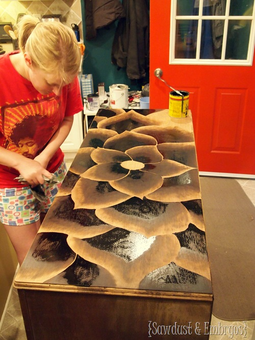 Furniture Makeover Diy Using Stain To Create Art The