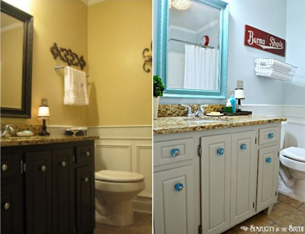 Simple Guest Bathroom Makeover {Simplicity In The South}